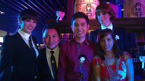 with the Mon Shu Girls, Patrick and John of Shu Uemura