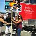 Brighton Beach Street Festival - People holding Eros Ramazzotti concert signs