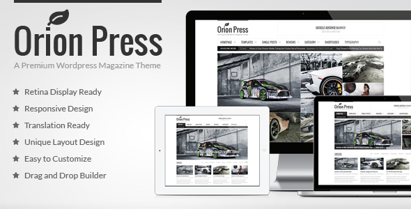 Orion Press v2.7.4 - Retina and Responsive Magazine Theme