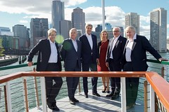 U.S. Secretary of State John Kerry poses with his counterparts aboard the 'Northern Lights' as he hosts the Foreign Ministers from the United Kingdom, France, Germany, Italy, and the European Union for a cruise around Boston Harbor in Boston, Massachusetts, on September 24, 2016, amid a daylong series of meetings of the so-called Quintet in the Secretary's home-state of Massachusetts. [State Department photo/ Public Domain]