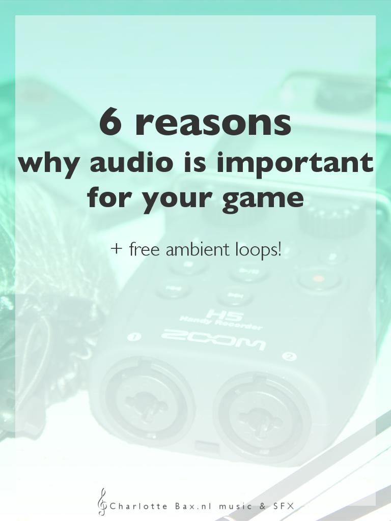 6 redenen waarom audio zo belangrijk is voor jouw game