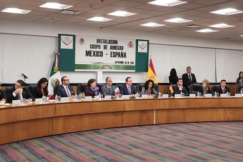 El día 29 de septiembre del 2016 se llevó a cabo en la H. Cámara de Diputados la instalación del grupo de amistad México-España.