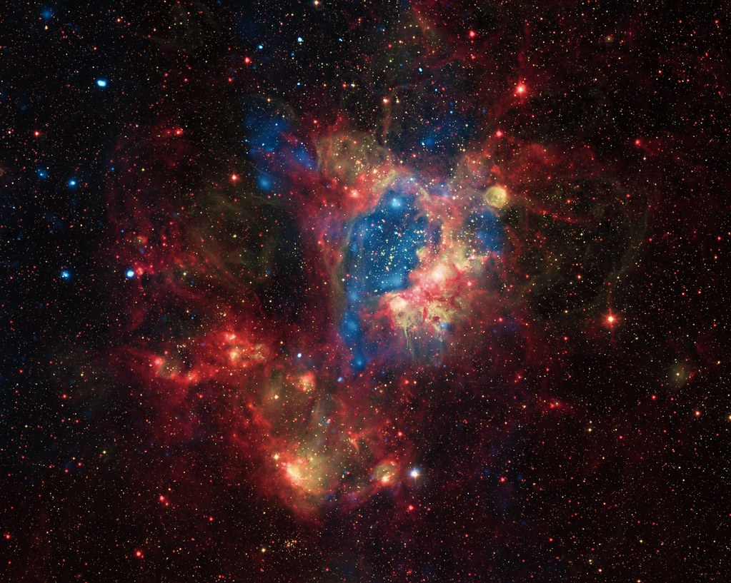 Superbubble in the Large Magellanic Cloud by NASA