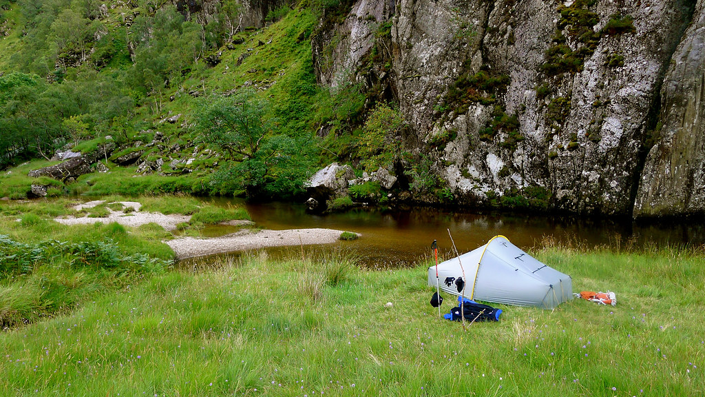 Wild Camping besides the River Carnach