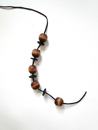 Stained Wood Bead Necklace Tutorial by Fabric Paper Glue 01.png