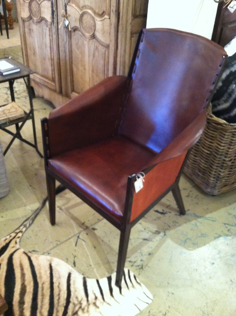 Leather chair too