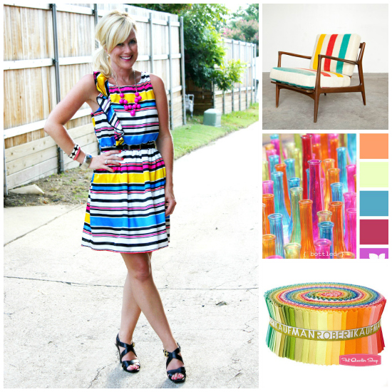 stripes and brights outfit