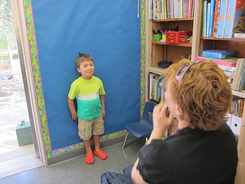 Stephanie takes Finn's picture