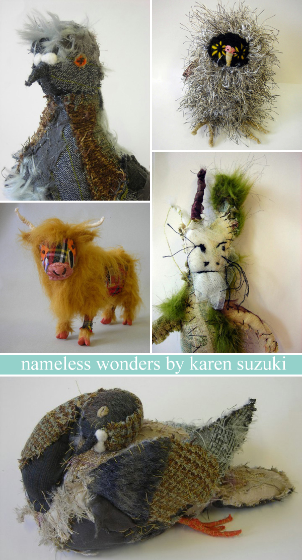 Animals with attitude: just a small collection of Karen Suzuki's nameless wonders... fabulous!