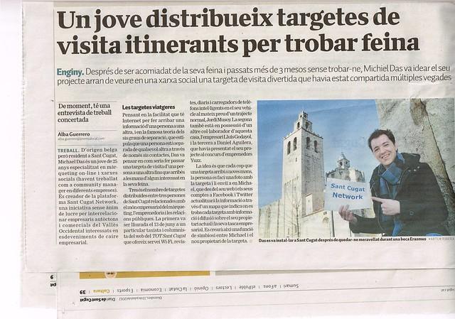 Artículo Diari Sant Cugat (14.07.2012) - catalán