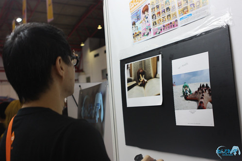 Looking at the photo wall