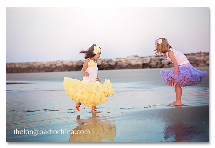 Giggling with my Sis on the beach BLOG