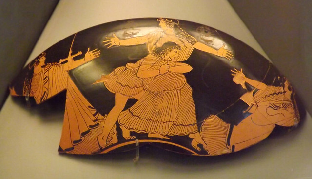 Kylix Fragment with Peleus and Thetis by the Sabouroff Painter in the Vatican Museum, July 2012