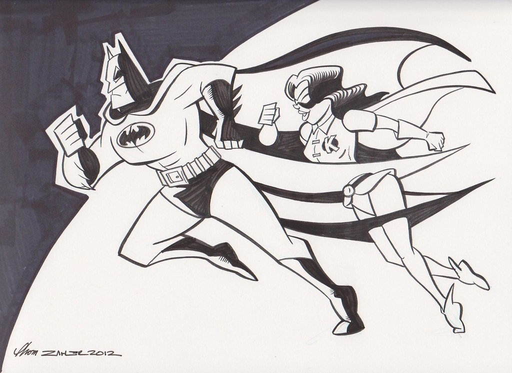 Batman and Kitty Pryde by Thom Zahler