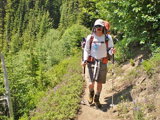 Josh Descending Glacier Basin