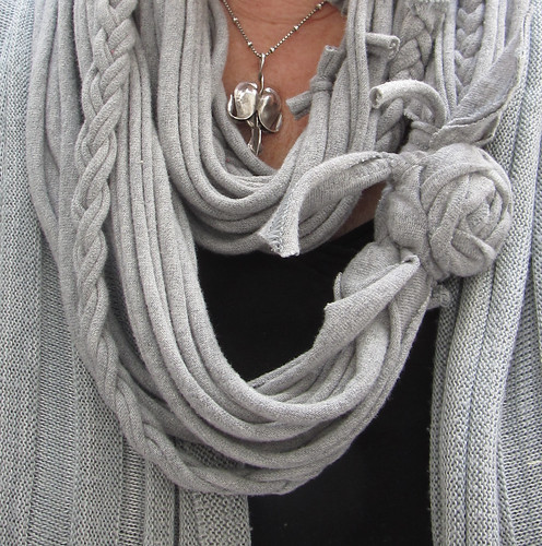 tshirt scarf grey by nanotchka