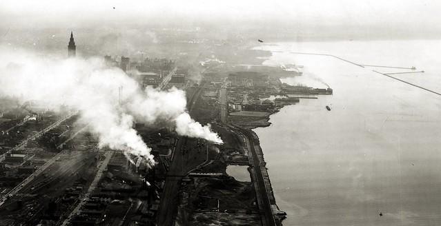 Cleveland lakefront, 1940