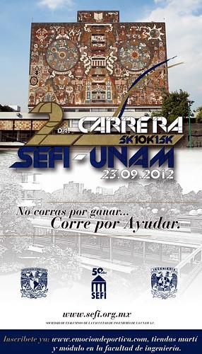 La segunda Carrera SEFI-UNAM en Ciudad Universitaria