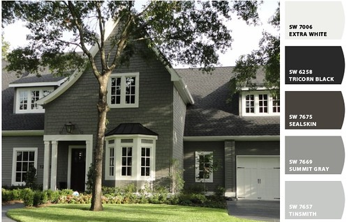 Trying to choose exterior paint colors it 39 s great to be home - Exterior wood paint black ...