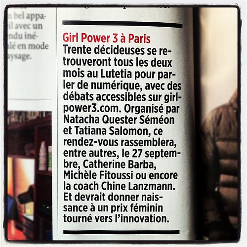 #lepoint Girl Power 3 à Paris (nouvelle formule) @tfsalomon @natachaqs @mfit