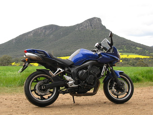Motorbike parked in front of Mt Abrupt by holidaypointau