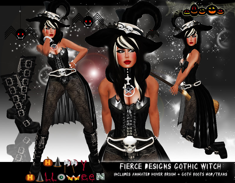 Gothic Witch Black by Fierce Designs