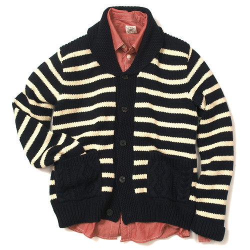RRL / Striped Shawl Cardigan