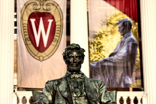 Image of Abraham Lincoln. college wisconsin campus madison universityofwisconsin sigma70300apomacro