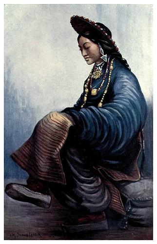 003-Dama tibetana-Tibet & Nepal-1905-A. H. Savage-Landor