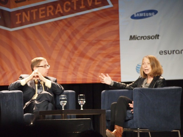 Jill Abramson speaking at the South by Southwest conference.
