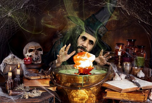 "An Iranian wizard cooks up a  ""mushroom surprise"" for Halloween"