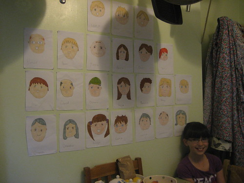 Olivia and her manga family wall