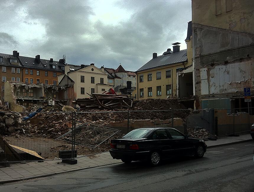 Wollmar Yxkullsgatan efter rivning