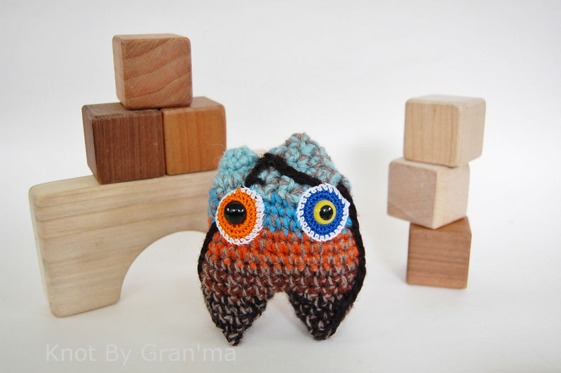 design seed - feathered autumn inspiration monster by knot by gran'ma