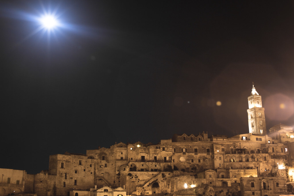Matera in Basilicata, Italy by night 3