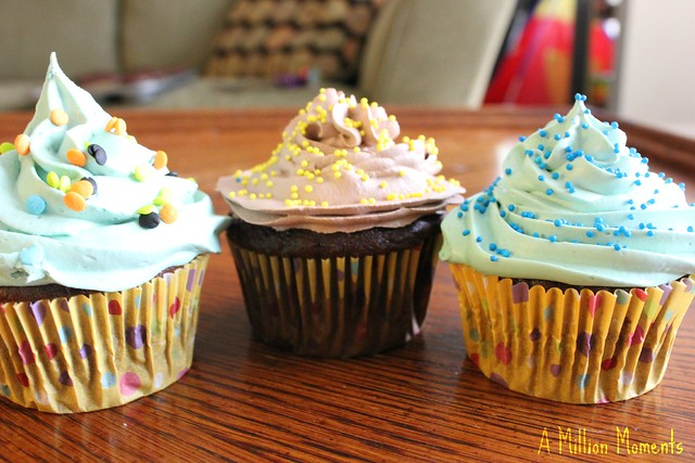 Confetti Cupcakes With Cool Whip Frosting