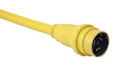 [04421] 50A Yellow Molded Plug Power Cable
