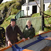 Launch of restored Salmon Fishing Cottage at Carrick-a-Rede, 5 October 2012