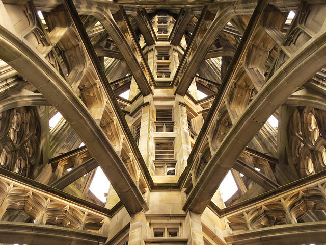 Inside the tallest church tower in the world, Ulm Minster, Germany