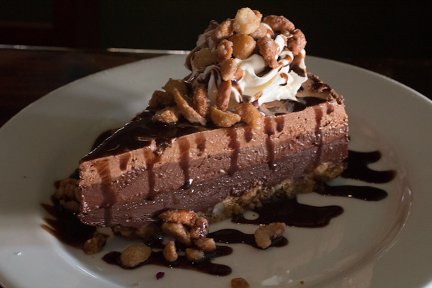 Chocolate Triple Layer Mousse Pie, Sharky's on the Pier, Venice, FL, Restaurant Review