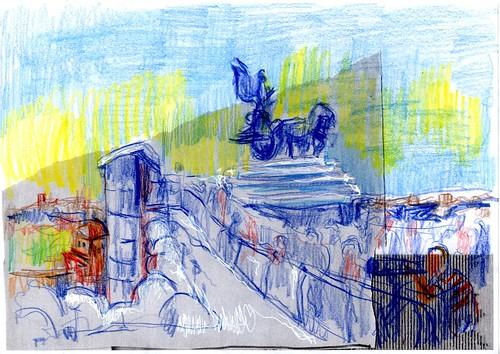 ASCENSOR DEL MONUMENTO AL SOLDADO DESCONOCIDO , VICTOR MANUEL II,ROMA (ITALIA)