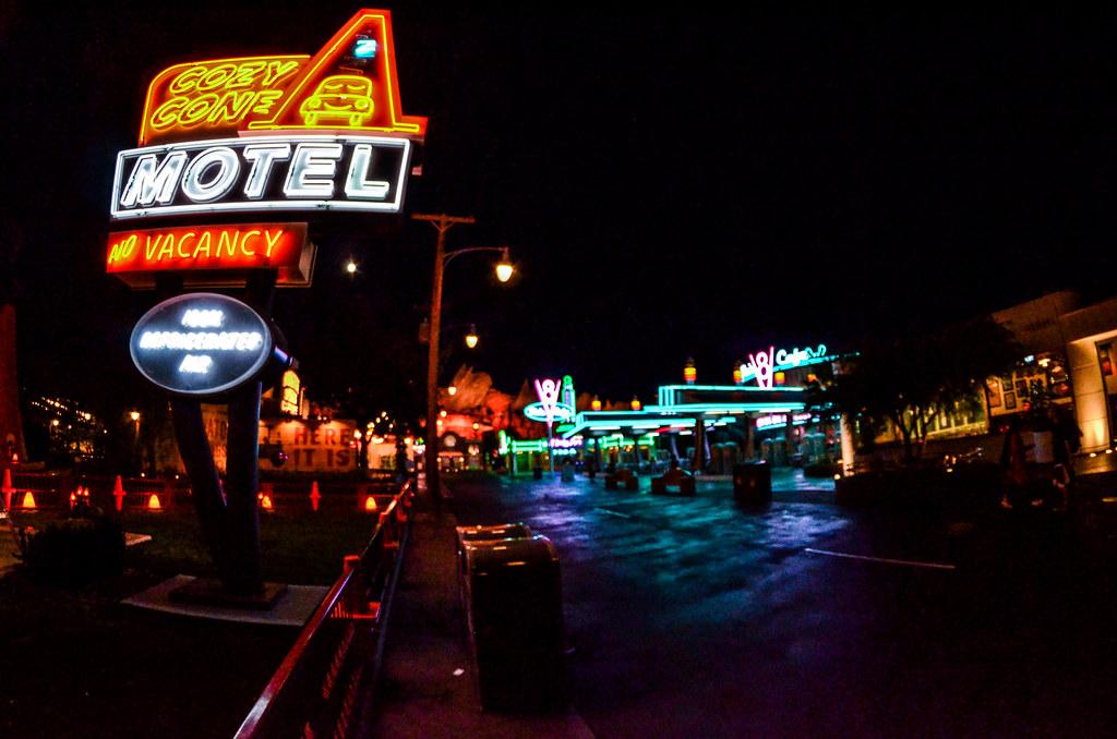 Cozy Cone Cars land night