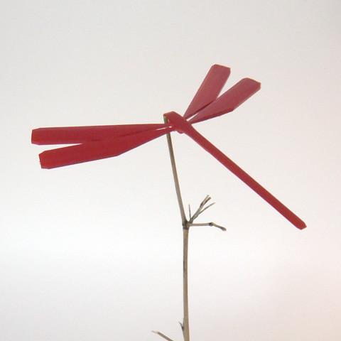 竹のトンボ(バランストンボ)/赤