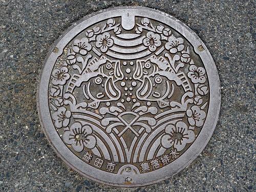 Masuda Shimane manhole cover (島根県益田市のマンホール)