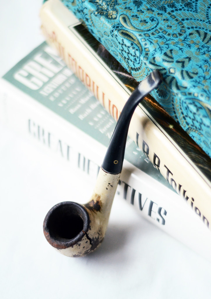 Vintage Left Handed Smoking Pipe