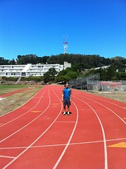 Track sprints with the B