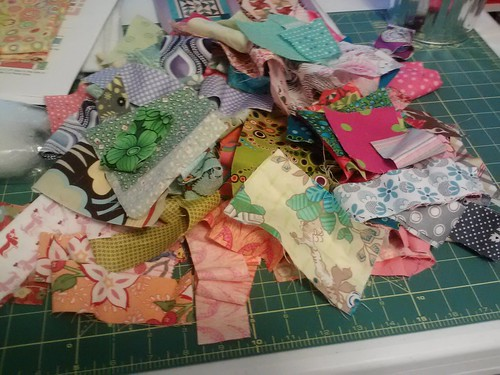 scraps for ticker tape quilt