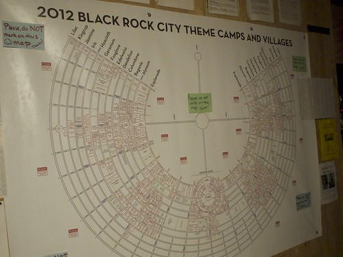 2012 Black Rock City Theme Camps and Villages map