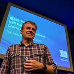 Mark Haddon | Mark Haddon leaves the stage after his sold out event