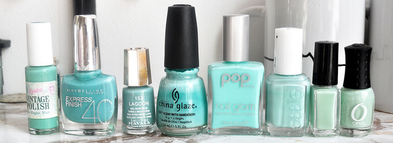 mint green nail polish 3
